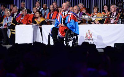 Mark addresses Graduates At Queens University Belfast