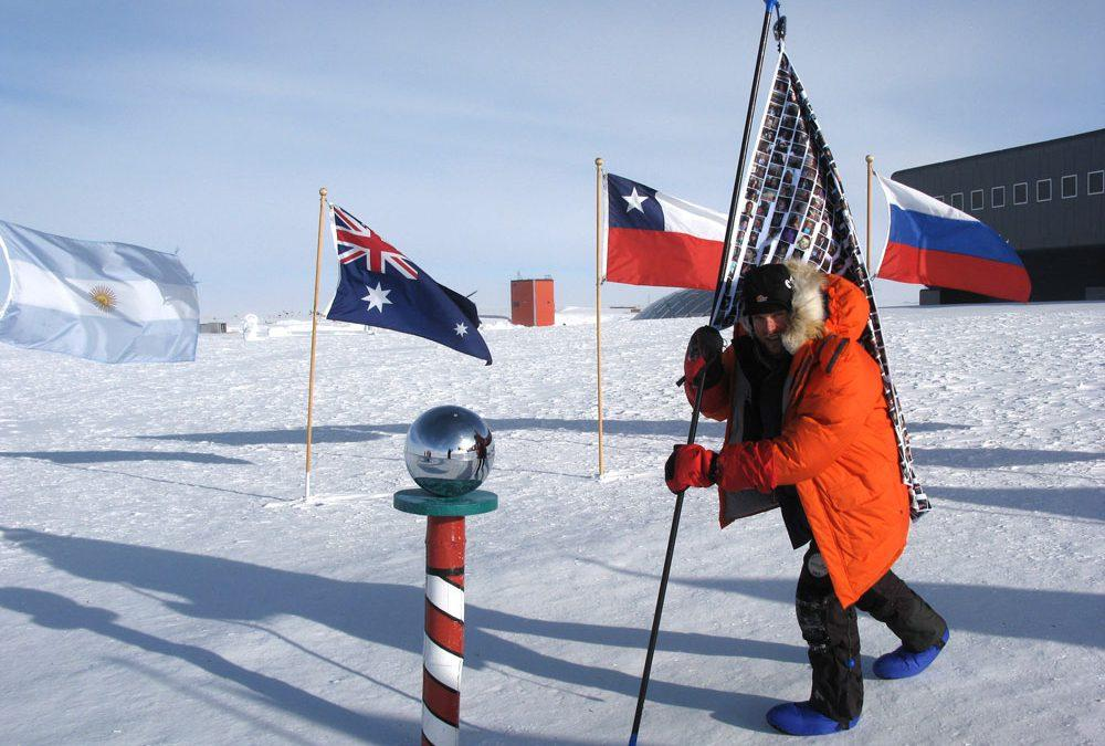 The first blind person in the world to race to The South Pole